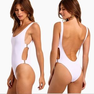 NWT L*SPACE Mayra Side Cut Out One Piece Swimsuit